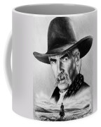 The Lone Rider  Wash Effect Coffee Mug by Andrew Read