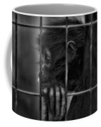 The Look Of Captivity Black And White Coffee Mug