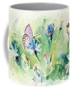 The Love Between Butterfly And Chicory Coffee Mug