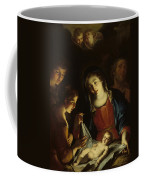 The Madonna Adoring The Infant Christ Coffee Mug