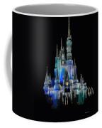 The Magic Kingdom Castle In Frosty Dark Blue Walt Disney World Coffee Mug