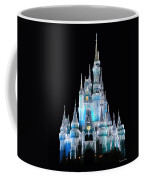The Magic Kingdom Castle In Frosty Light Blue Walt Disney World Coffee Mug