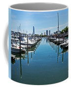 The Marina At The Golden Nugget Coffee Mug by Tom Gari Gallery-Three-Photography
