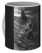 The Mariner As His Ship Is Sinking Sees The Boat With The Hermit And Pilot Coffee Mug by Gustave Dore