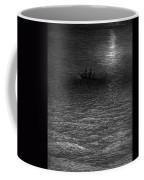 The Marooned Ship In A Moonlit Sea Coffee Mug