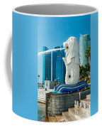The Merlion  Fountain - Singapore. Coffee Mug