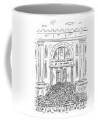 The Metropolitan Museum Of Cat Videos Thronged Coffee Mug