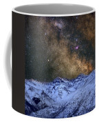 The Milky Way Over The High Mountains Coffee Mug