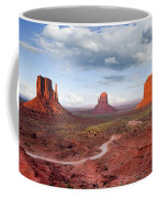 The Mittens And Merrick Butte At Sunset Coffee Mug