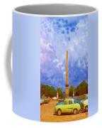 The Monument's Parking Lot Digital Art By Cathy Anderson Coffee Mug