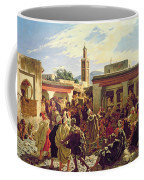 The Moroccan Storyteller Coffee Mug by Alfred Dehodencq