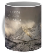 The Mountains Are Calling And I Must Go  John Muir Vintage Coffee Mug