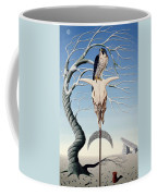 The Neolithic Totem Oil On Canvas Coffee Mug