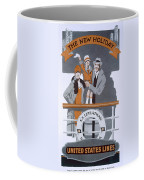 The New Holiday, Vintage Travel Poster Coffee Mug