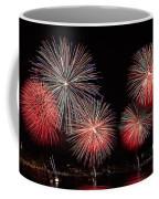 The New York City Skyline All Lit Up Coffee Mug by Susan Candelario