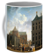 The Nieuwe Kerk And The Rear Of The Town Hall In Amsterdam  Coffee Mug by Isaak Ouwater