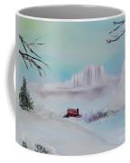 The Old Red Barn In Winter Coffee Mug