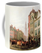 The Old Smithfield Market Coffee Mug by Thomas Sidney Cooper