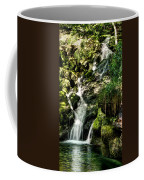 The Old Troll Caught By The Sun Admiring The Forest Waterfall Coffee Mug