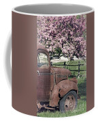 The Old Truck And The Crab Apple Coffee Mug by Edward Fielding