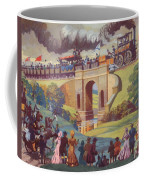 The Opening Of The Stockton And Darlington Railway Macmillan Poster Coffee Mug by Norman Howard