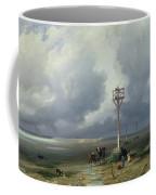 The Passage Du Gois At Noirmoutier, 1859 Oil On Canvas Coffee Mug