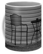 The Patio Chairs In Black And White Coffee Mug