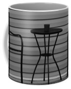 The Patio In Black And White Coffee Mug by Rob Hans