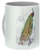 The Peacock Coffee Mug by A Fournier
