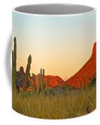 The Peak And Cardon Cacti In The Sunset In San Carlos-sonora Coffee Mug