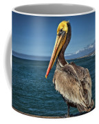 The Pelican Of Oceanside Pier Coffee Mug