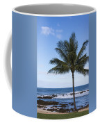 The Perfect Palm Tree - Sunset Beach Oahu Hawaii Coffee Mug