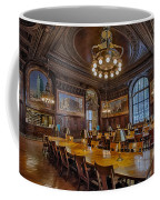 The Periodical Room At The New York Public Library Coffee Mug by Susan Candelario