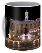 The Piazza Del Campidoglio At Night Coffee Mug