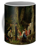 The Pilgrims From The Abbey Of St. Odile Oil On Canvas Coffee Mug