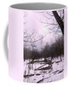 The Pink Winter Light On The Mountain Top Coffee Mug