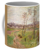 The Plain At Gennevilliers Coffee Mug by Claude Monet