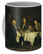 The Poet Alexis Piron 1689-1773 At The Table With His Friends, Jean Joseph Vade 1720-57 And Charles Coffee Mug