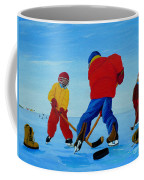 The Pond Hockey Game Coffee Mug