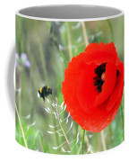 The Poppy And The Bee Coffee Mug