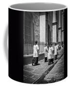 The Procession - Black And White Coffee Mug