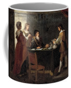 The Prodigal Son Receiving His Portion Of The Inheritance Coffee Mug