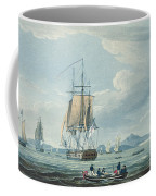 The Prometheus And The Melpomene In The Gulf Of Riga Coffee Mug by Thomas Whitcombe