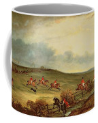The Quorn In Full Cry Near Tiptoe Hill Coffee Mug by John E Ferneley