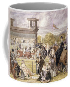The Races At Longchamp In 1874 Coffee Mug