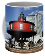 The Red Beacon From Baltimore Harbor Coffee Mug