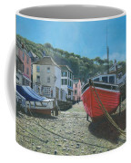 The Red Boat Polperro Corwall Coffee Mug