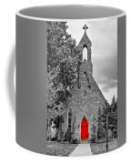 The Red Door Monochrome Coffee Mug