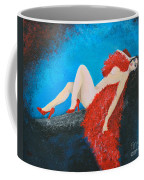 The Red Feather Boa Coffee Mug
