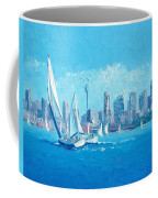 The Regatta Sydney Habour By Jan Matson Coffee Mug